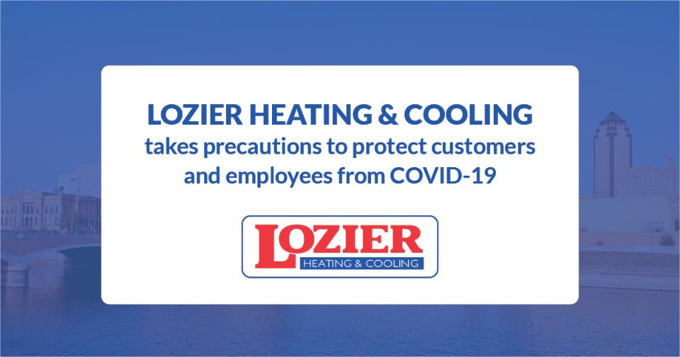 Lozier Heating and Cooling COVID-19 Message