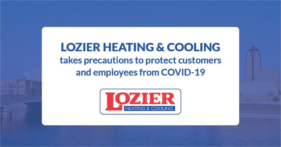 Lozier's COVID-19 precautions.